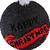 """серо-черный """"Happy Christmas"""""""