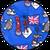 английский флаг синий