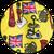 английский флаг желтый