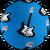 синій з гітарою