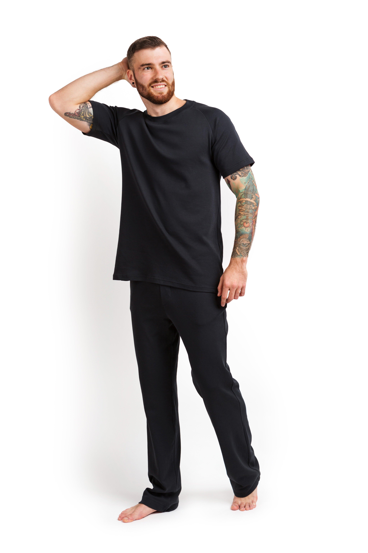 Пижама мужская (футболка и штаны) графитовый MansSet