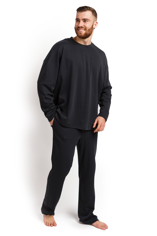Пижама мужская (лонгслив и штаны) графитовый XXL-XXXL MansSet