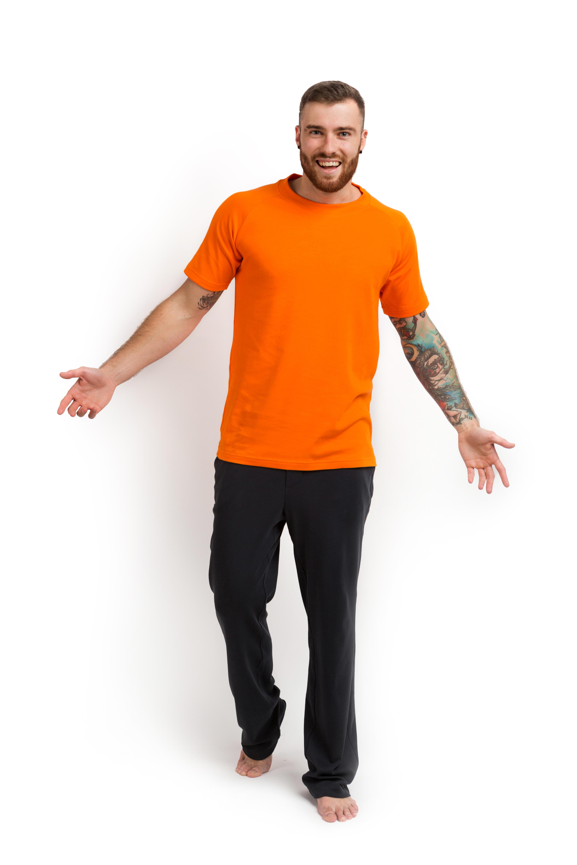 Футболка хлопок оранжевая MansSet