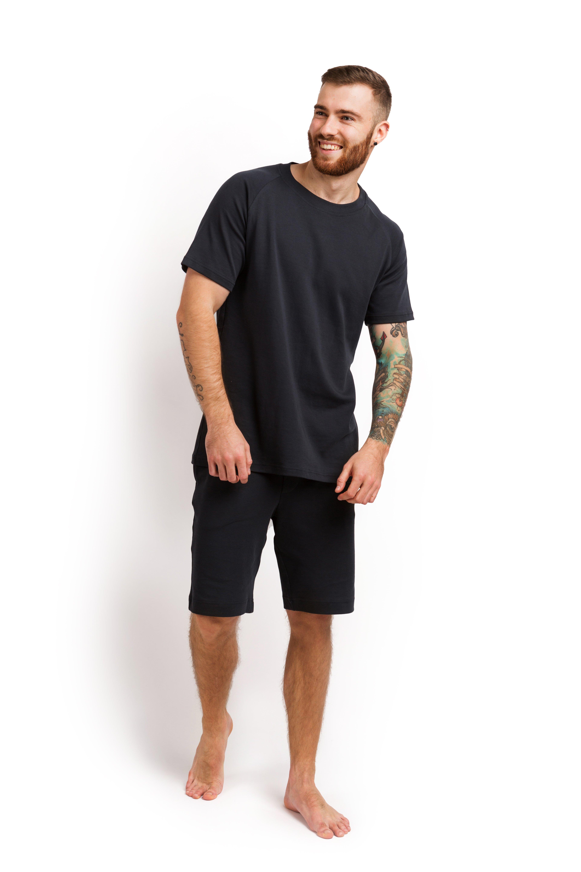Пижама мужская (футболка и шорты) графитовый MansSet