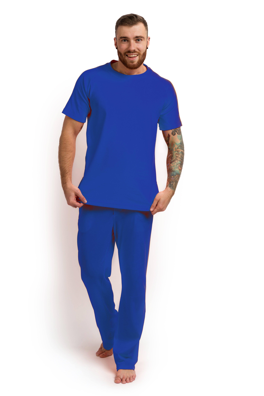 Пижама мужская (футболка и штаны) оранжевая MansSet