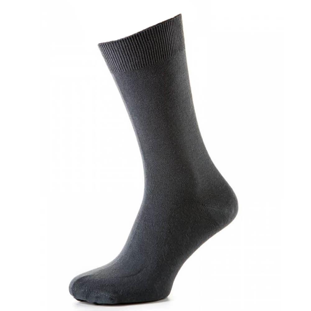 Носки мужские классические из хлопка, осень/зима, серый MansSet