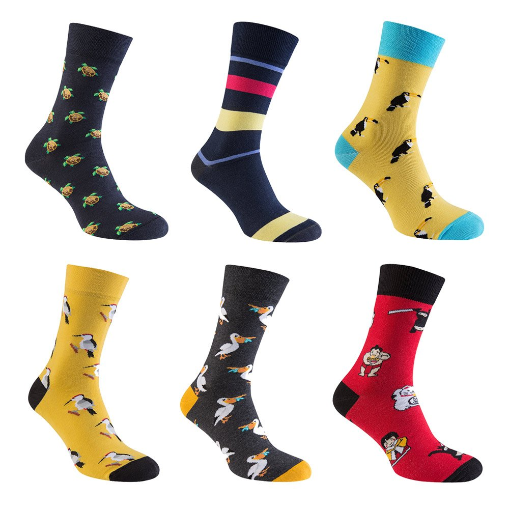 Комплект мужских цветных носков Socks Color, 6 пар