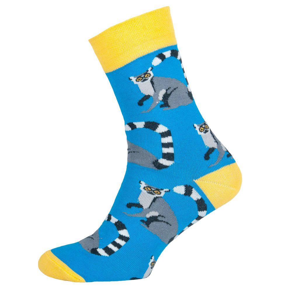 Носки мужские цветные из хлопка, голубой Енот MansSet