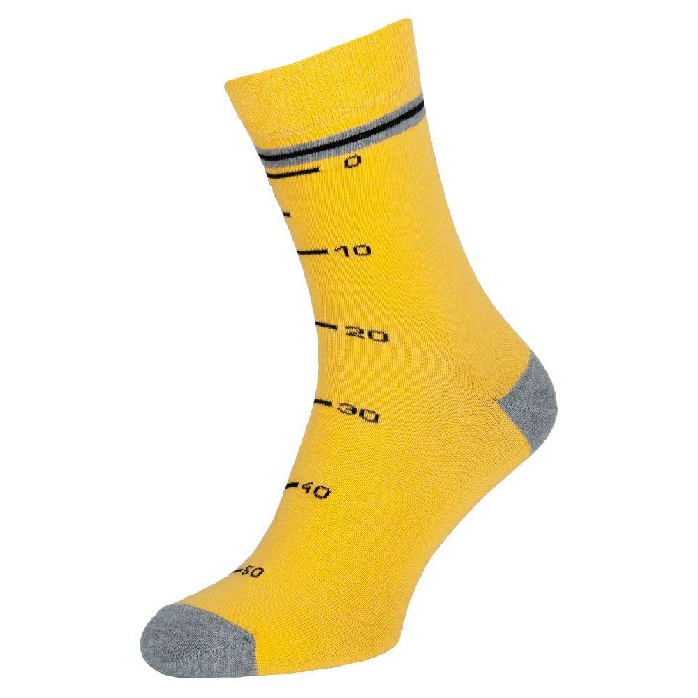Носки мужские цветные из хлопка, жёлто-серый Мастер MansSet