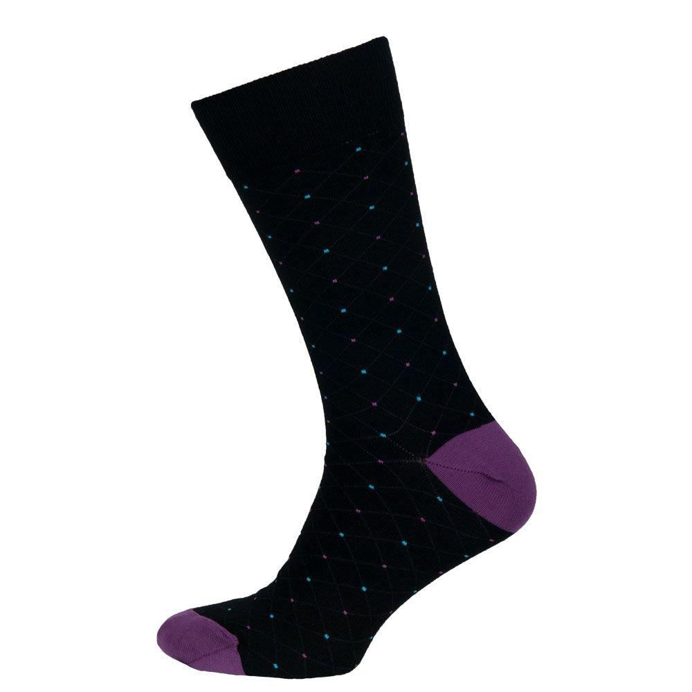 Носки мужские цветные из хлопка, чёрный в крапинку MansSet