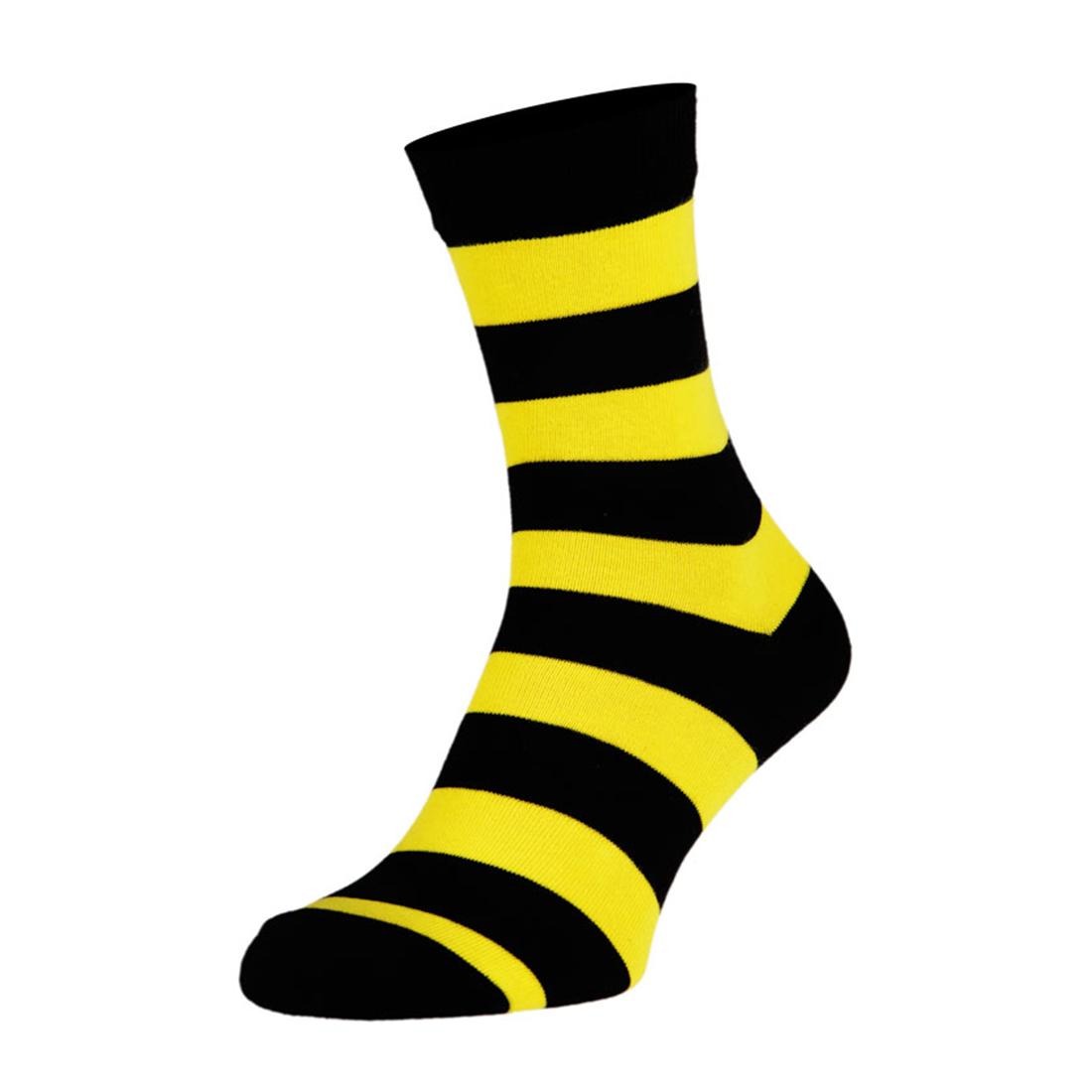 Носки мужские цветные из хлопка, жёлтая полоска MansSet
