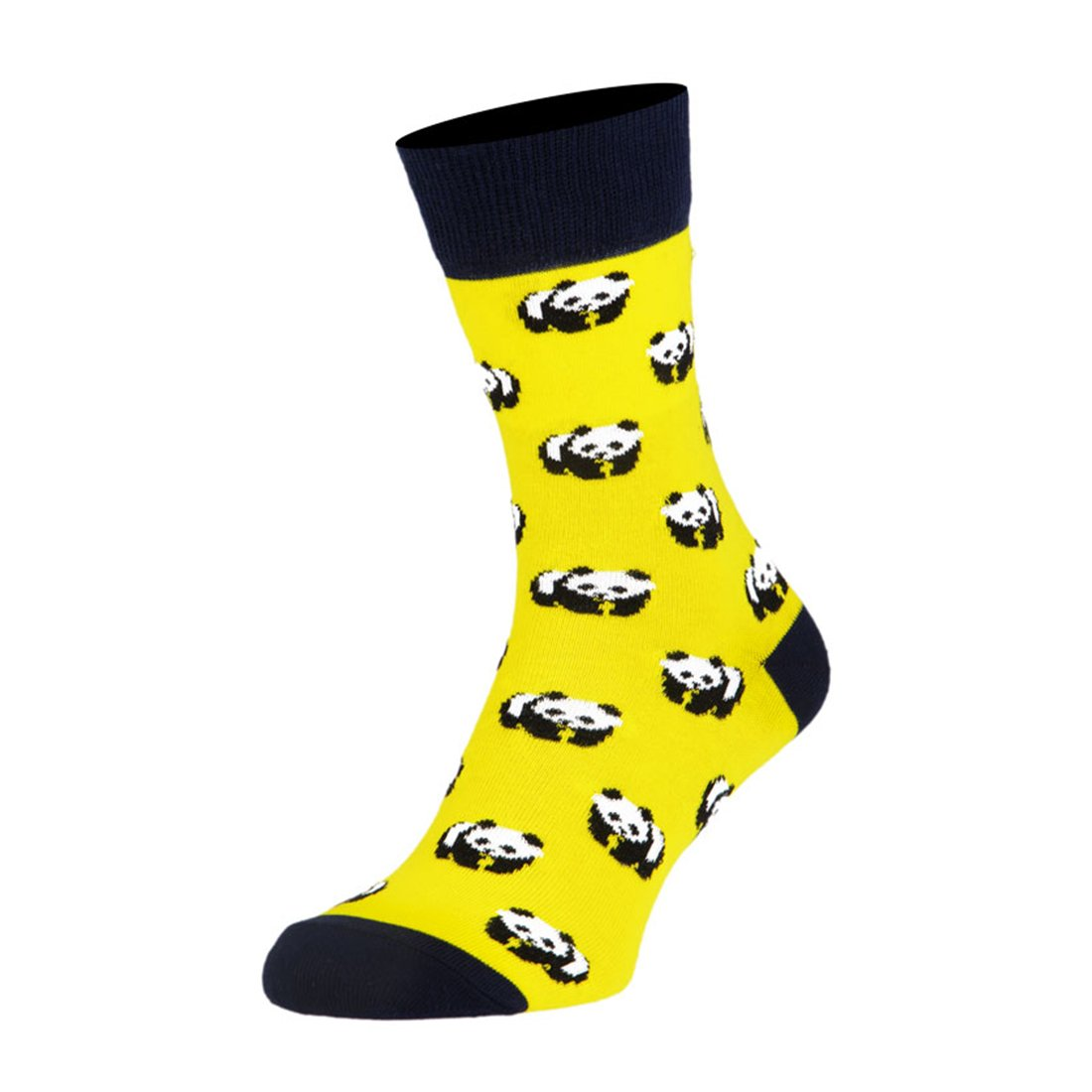 Носки мужские цветные из хлопка, жёлтые панды MansSet