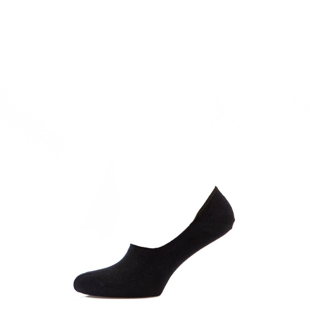 Носки мужские следы котоновые, с силиконом, чёрный MansSet