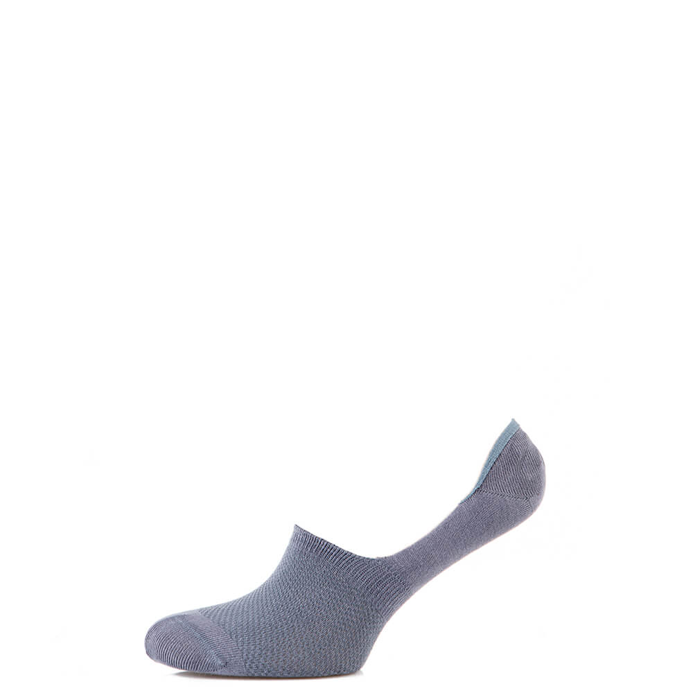 Носки мужские следы котоновые, с силиконом, серый MansSet