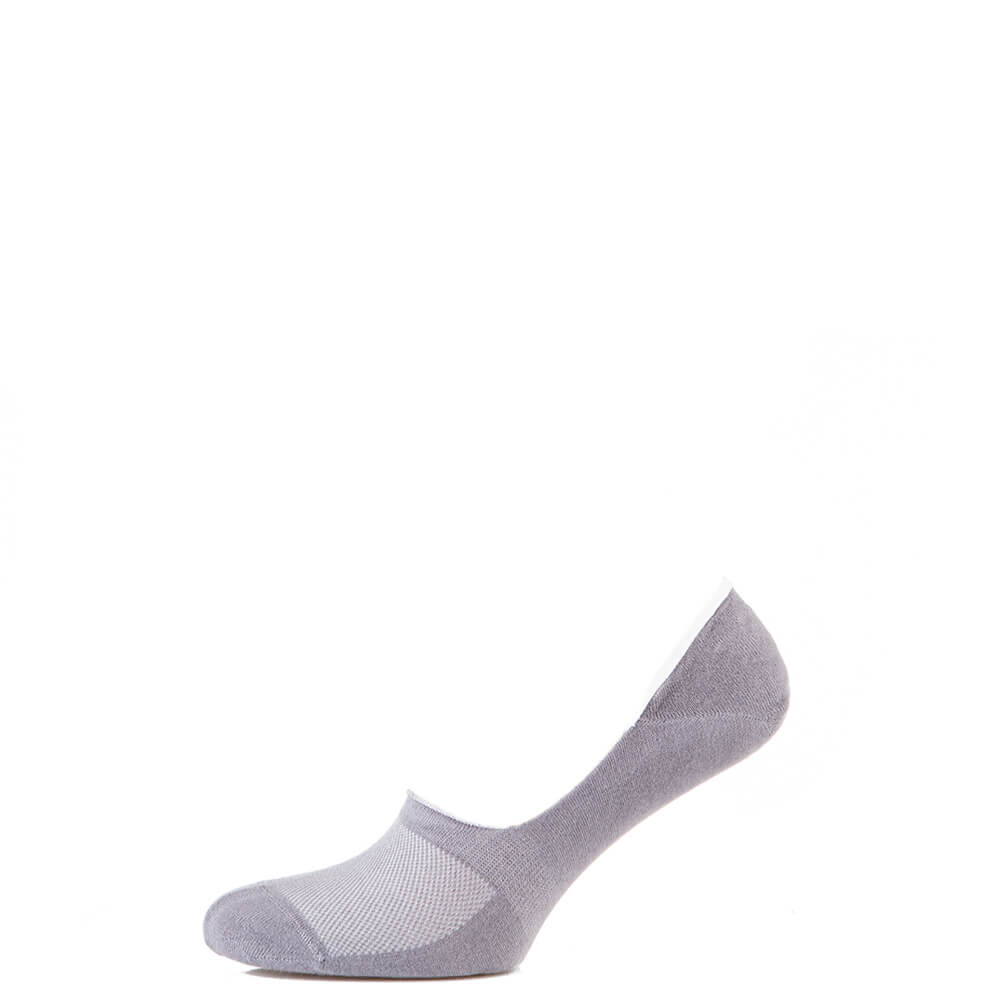 Носки мужские следы котоновые, с силиконом, светло-серый MansSet