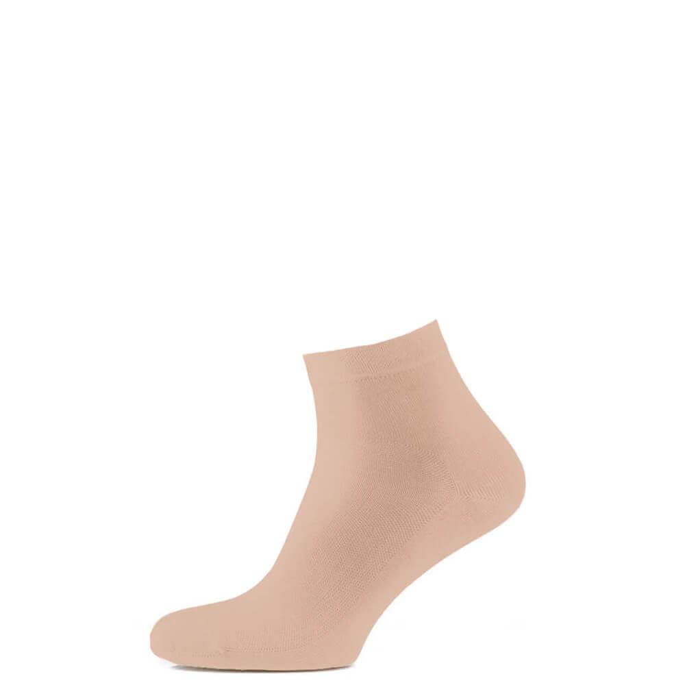 Носки средние из хлопка с сеткой, бежевый MansSet