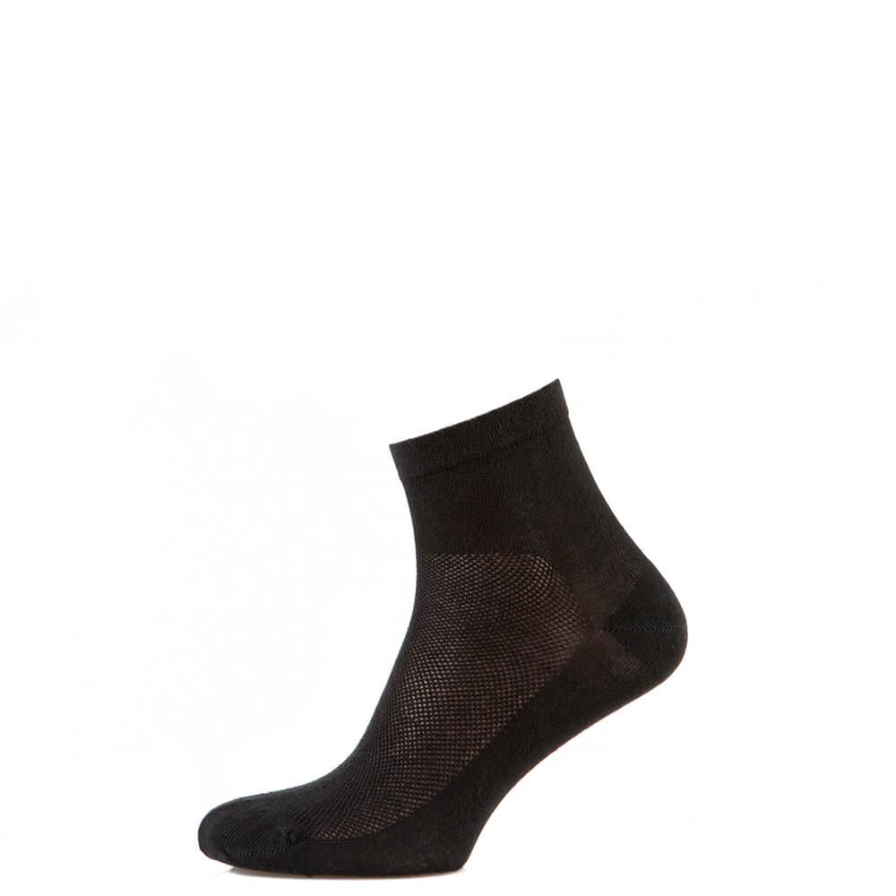 Носки средние из хлопка с сеткой, чёрный MansSet