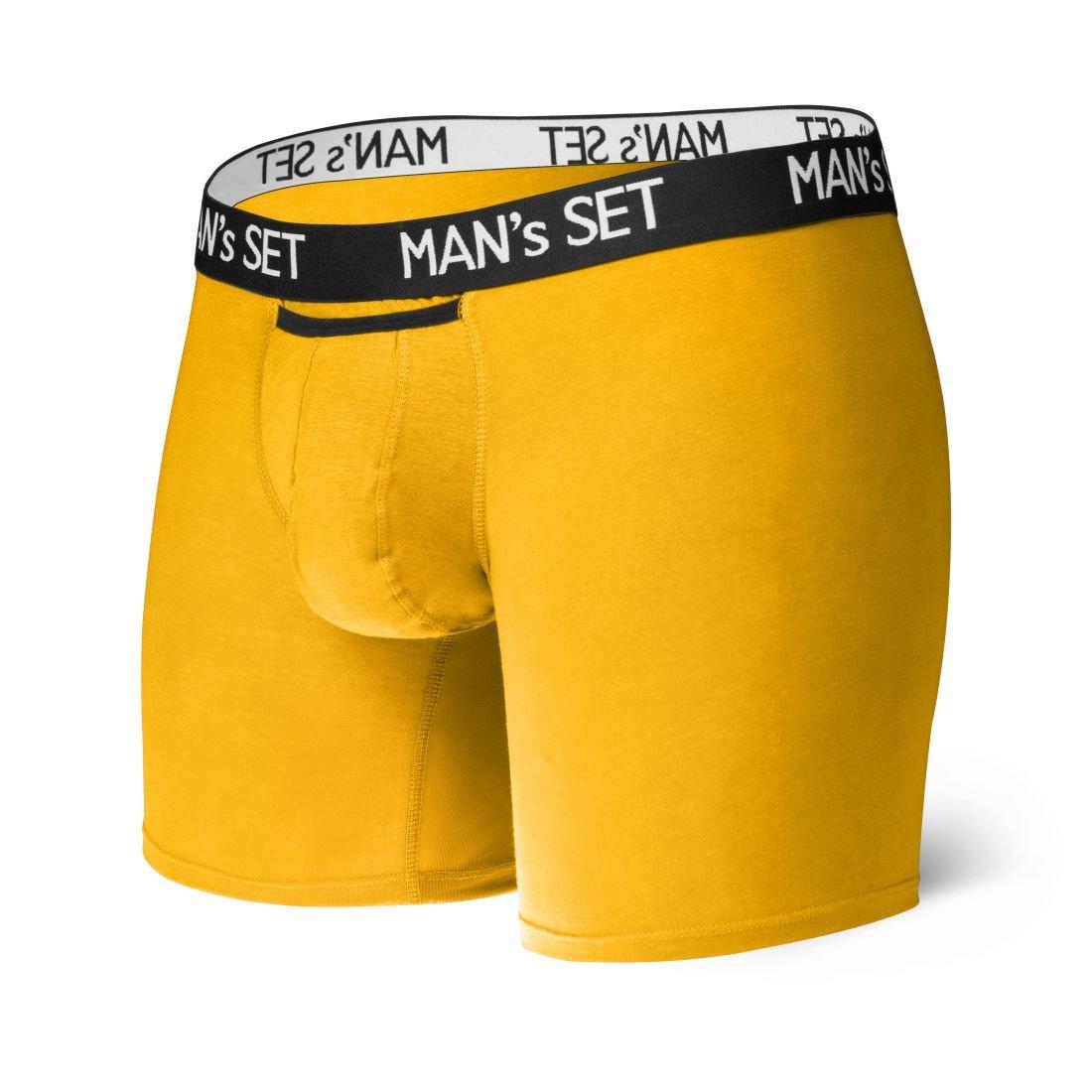 Анатомические боксеры из хлопка Long, желтый MansSet