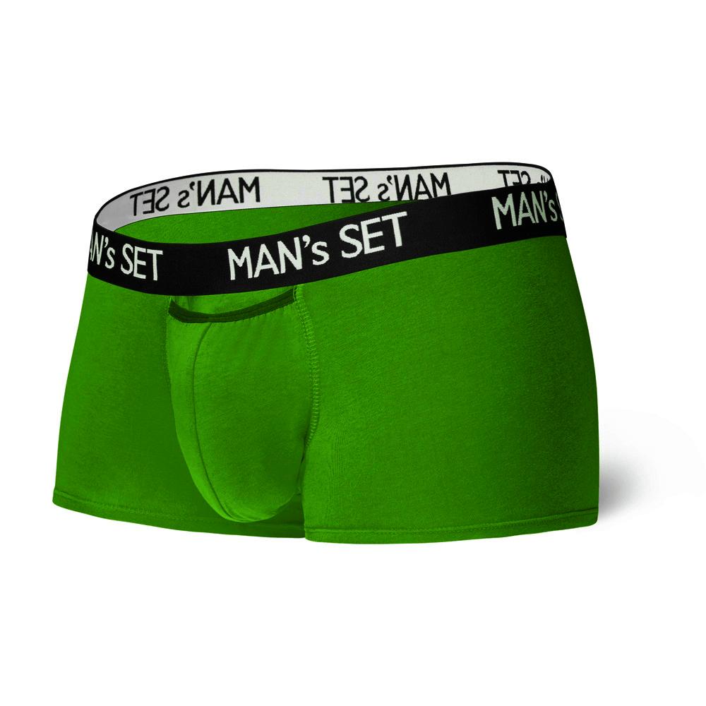 Мужские трусы анатомические из хлопка, Modern, зелёный MansSet