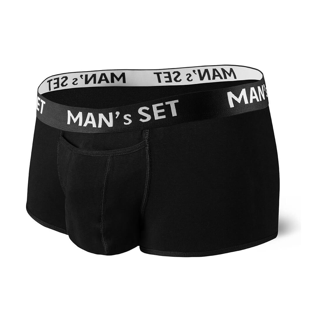 Мужские анатомические спортивные боксеры из хлопка, Sport, чёрный MansSet